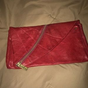 Kooba Mandy red leather clutch $395